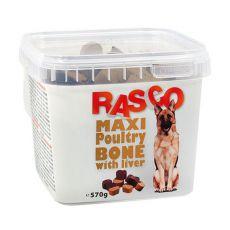 RASCO przysmak dla psa- kość maksi z mięsem z drobiu i wątrobą, 570g