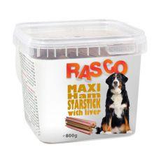 RASCO przysmak dla psa- szynkowe gwiazdki maksi z wątrobą, 800g