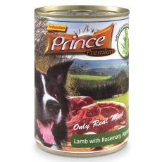 Konserwa PRINCE Premium - jagnięcina z rozmarynem, jabłkiem i marchewką 400g