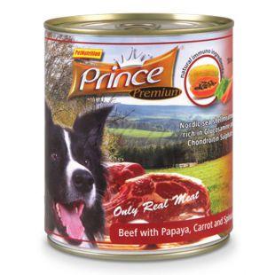 Konserwa PRINCE Premium – z wołowiną, papają, marchewką i szpinakiem 800g