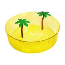 Plastikowe terrarium dla żółwi - żółte, okrągłe 24,5cm