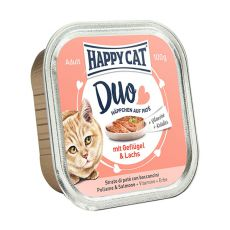 Happy Cat DUO MENU - kurczak i łosoś, 100g