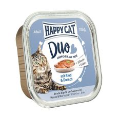 Happy Cat DUO MENU - wołowina i dorsz, 100g