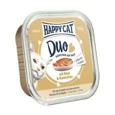 Happy Cat DUO MENU -wołowina i królik, 100g
