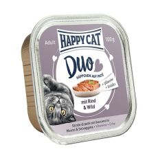 Happy Cat DUO MENU - wołowina i dziczyzna, 100g