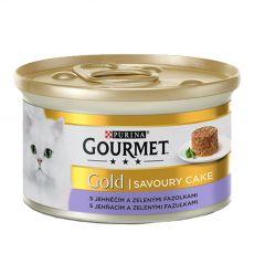 Konserwa Gourmet GOLD - Savoury Cake z jagnięciną i zieloną fasolką, 85g