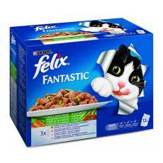 Felix Fantastic - kombinacja mięs i ryb z warzywami, 12x100g