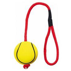 Gumowa, piankowa piłka na sznurku - 6cm