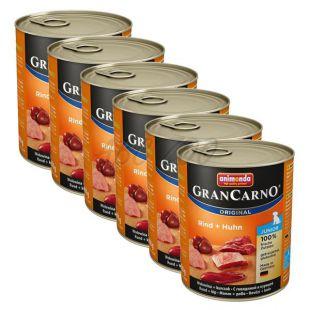Konserwa GranCarno Fleisch Junior wołowina + kurczak - 6 x 800g