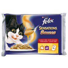 Felix Sensations Sauces – mięso z indyka i jagnięcina w sosie, 400g