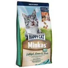 Happy Cat Minkas MIX – drób, jagnięcina i ryba – 4kg
