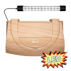 Pokrywa do akwarium 40x25cm z oświetleniem LED EXPERT 6W - BUK, zaokrąglona