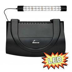 Pokrywa do akwarium z oświetleniem 40x25cm LED EXPERT 6W - czarna, zaokrąglona