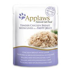 APPLAWS Cat Pouch, kurczak z wątróbką w galarecie 70g