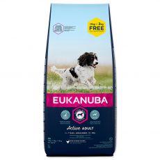 EUKANUBA ADULT MEDIUM Breed 15kg + 3kg ZA DARMO
