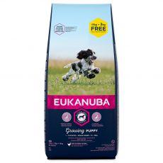 EUKANUBA PUPPY Medium Breed 15kg + 3kg ZA DARMO