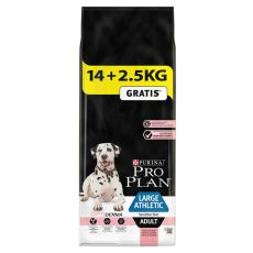 Purina PRO PLAN ADULT Large Athletic Sensitive Skin 14kg + 2,5kg