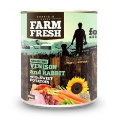 Farm Fresh - Venison and Rabbit with Sweet Potatoes 800g