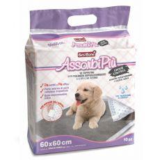 Higieniczne podkładki dla psa, z aktywnym węglem 60 x 60 cm, 10 szt