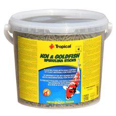 TROPICAL Koi & Goldfish spirulina sticks - 21 L / 1,8 kg
