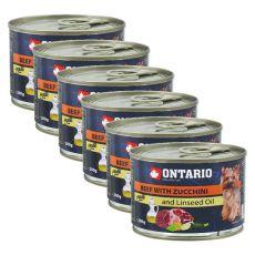 Konserwa ONTARIO – Wołowina z cukinią i olejem lnianym, 6 x 200g
