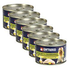 Konserwa ONTARIO– mięso z gęsi z żurawiną i olejem lnianym, 6x 200g