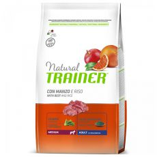 Trainer Natural Adult Medium, wołowina i ryż 12kg
