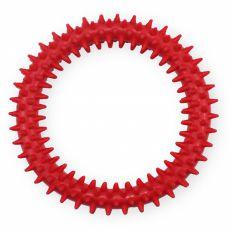 TPR Gumowy krążek z wypustkami - czerwony 12,5cm