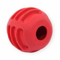 TPR Gumowa piłka dla psów, czerwona -  6cm