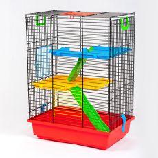 TEDDY II color - klatka dla chomików z plastikowym wyposażeniem