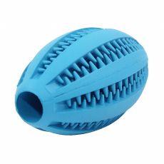Zabawka dla psa - piłka rugby, niebieska 11 cm