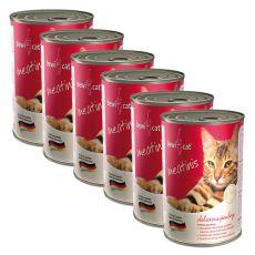 BEWI CAT Meatinis konserwa z drobiem - 6 x 400g, 5+1 GRATIS