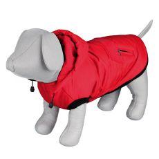 Zimowa kurtka Palermo z kapturem, dla psa, czerwona - 50cm