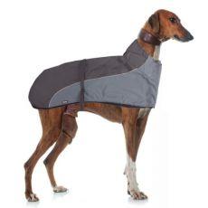 Kamizelka GREYHOUND z kołnierzem dla psa, szaro-czarna - 50cm