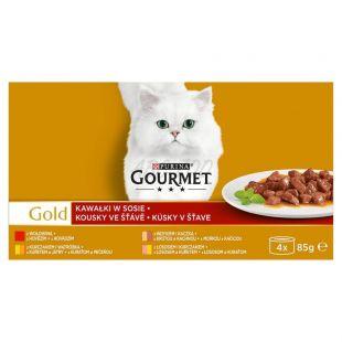 Konserwa Gourmet GOLD - kawałki w sosie, 4 x 85 g