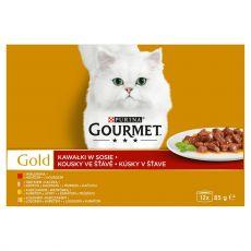 Konserwa Gourmet GOLD - kawałki w sosie, 12 x 85 g