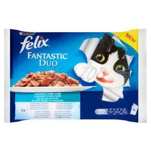 Saszetki FELIX Fantastic Duo - delikatne mięso z ryb, 400 g