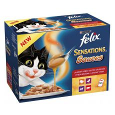 Felix Sensations Sauces - delikatne mięso w sosie, 12 x 100 g