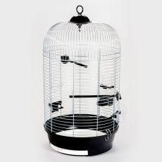 Klatka dla papużek JULIA III, chromowana - 34 x 34 x 65 cm
