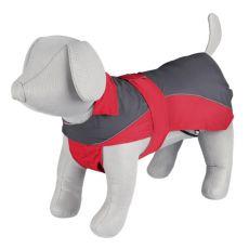 Płaszcz przeciwdeszczowy Trixie Lorient szaro-czerwony, L 55 cm