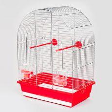 LUSI I chrom - klatka dla papug- 39 x 25 x 53 cm