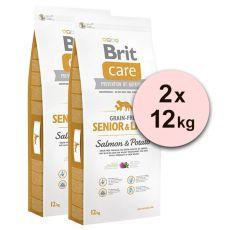Brit Care Grain Free Senior Light Salmon & Potato 2 x 12kg