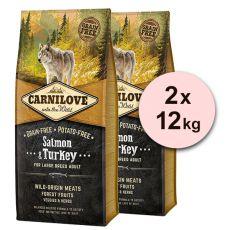 Brit CARNILOVE Salmon & Turkey Large Breed Adult 2 x 12 kg
