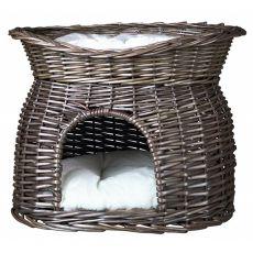 Legowisko dla psów i kotów, pleciona jaskinia - GREY