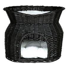Legowisko dla psów i kotów, pleciona jaskinia - BLACK