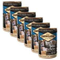 BRIT Carnilove Wild Meat Salmon & Turkey 6 x 400 g