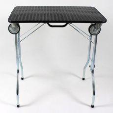 Składany stół trymerski z kółkami 90 x 55 x 85 cm, czarny