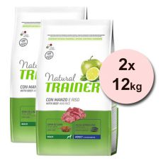 Trainer Natural Adult Maxi, wołowina i ryż 2 x 12 kg
