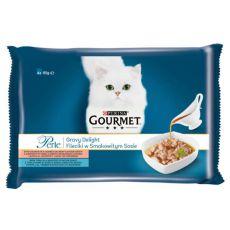 Saszetki GOURMET PERLE Gravy Delight - ryby, 4 x 85 g