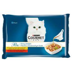 Saszetki GOURMET PERLE Gravy Delight - wołowina i kurczak, 4 x 85 g